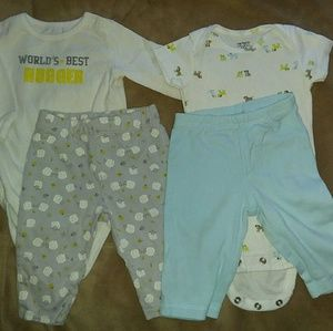 2 size 3 month outfits